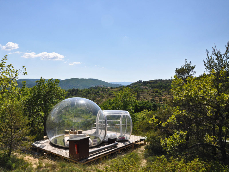 Sleep in a bubble in the middle of the french wilderness at attrap r ves Attrap reves hotel