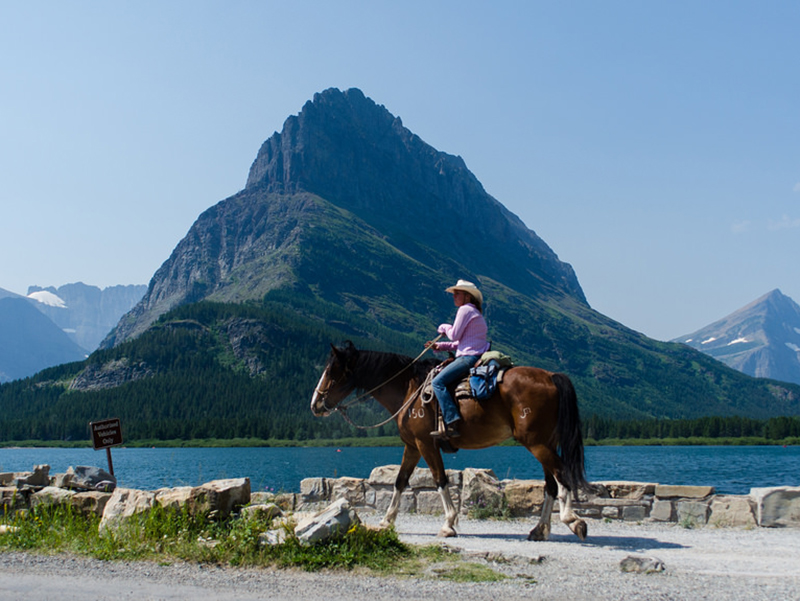 Horseback riding at Swiftcurrent