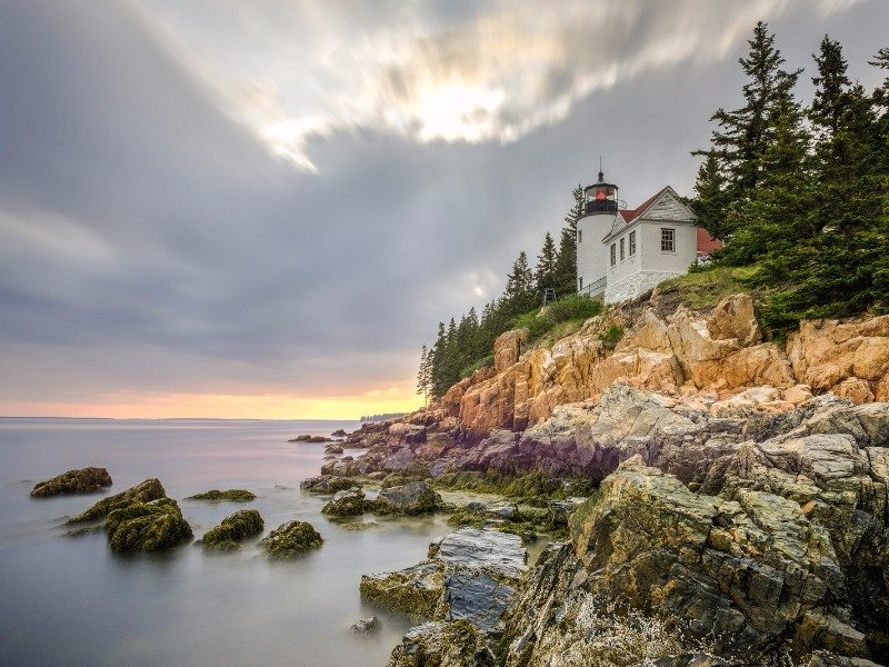 maine harbor acadia head bass national park light places visit coast spots bigstock tripstodiscover sunset credit most bar