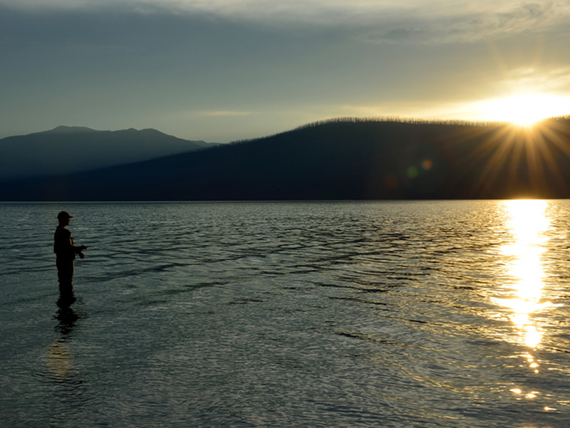Fishing Lake McDonald