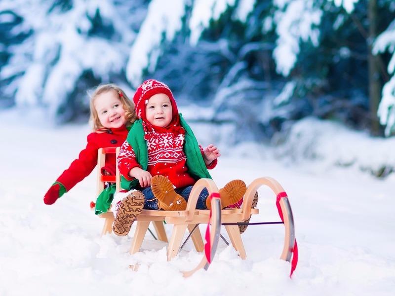 Kids sledding
