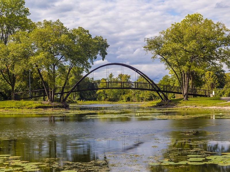 Pond and bridge in Madison