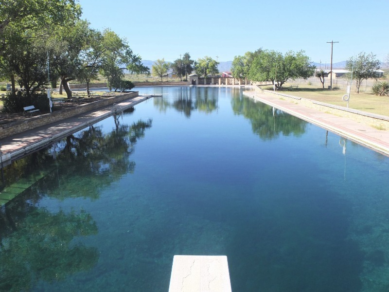 Balmorhea State Park Spring Fed Swimming Pool In Texas