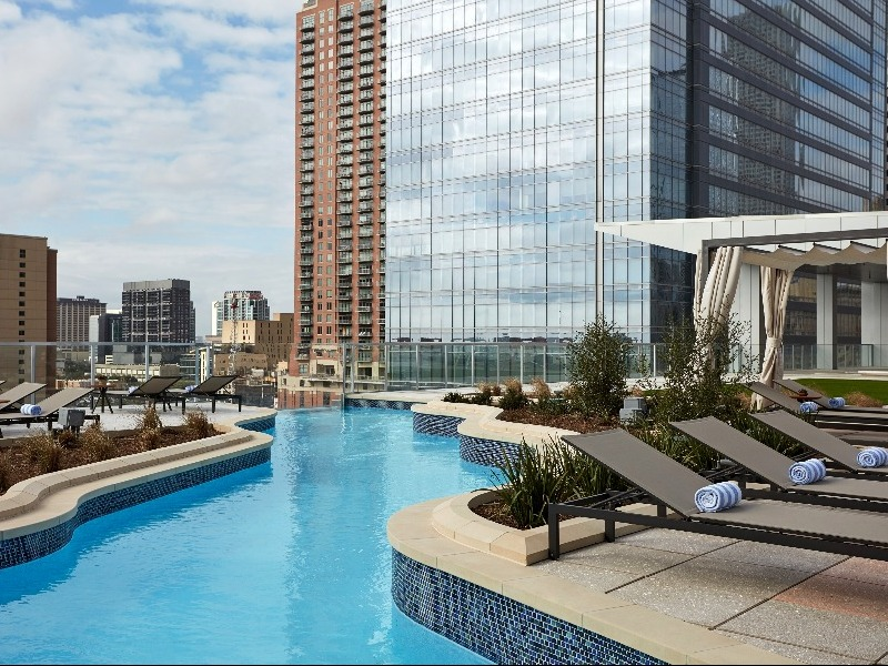 Discover The Texas Shaped Lazy River In Downtown Houston