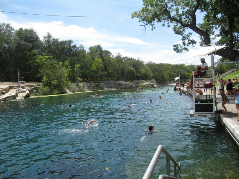 Barton Springs Pool Austin Tx Escape The Texas Heat