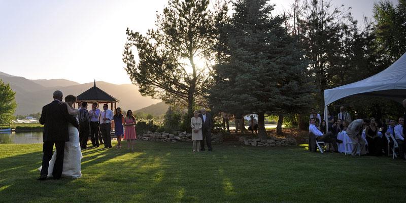 Scenic utah wedding