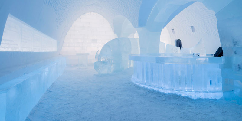 Sweden S Ice Hotel Is A Real Life Frozen Castle