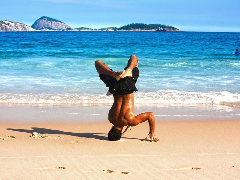 Capoeira on Ipanema beach, Brazil