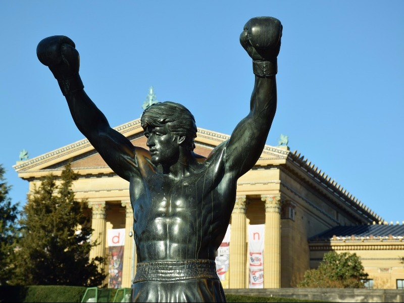 The Rocky Statue and Steps