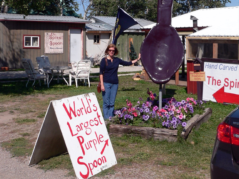 World's Largest Purple Spoon