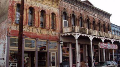 1800s buildings in haunted Virginia City