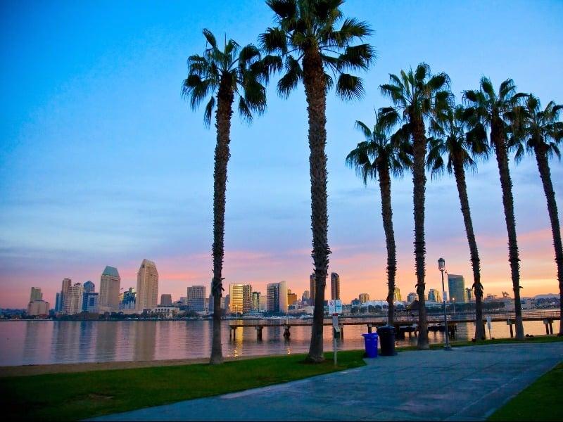 view of San Diego from Coronado