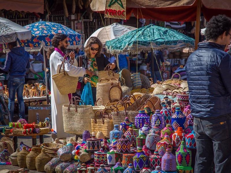 traditional market in Marrakech