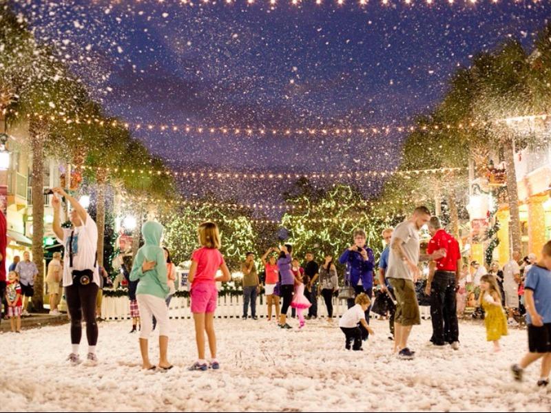 now snowing celebration
