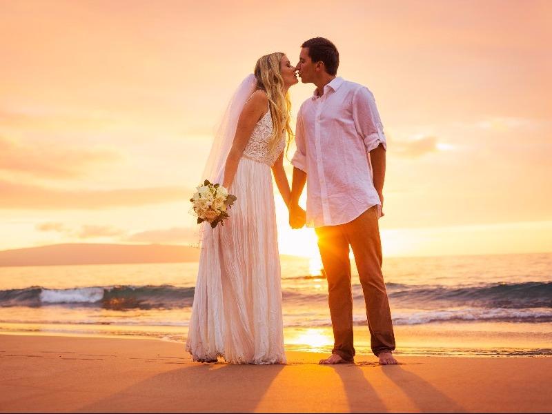 Wedding on a beach in Hawaii