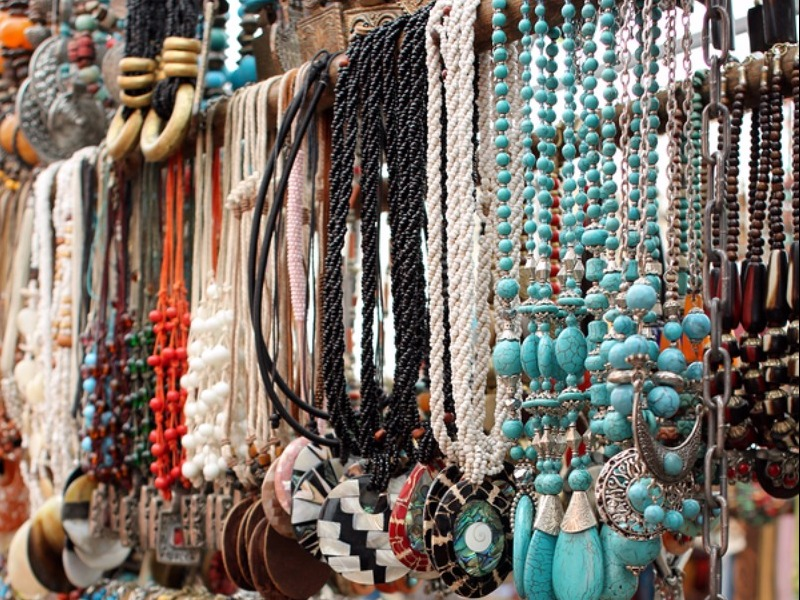 Cape Town Central South Africa Colorful Market Jewelry