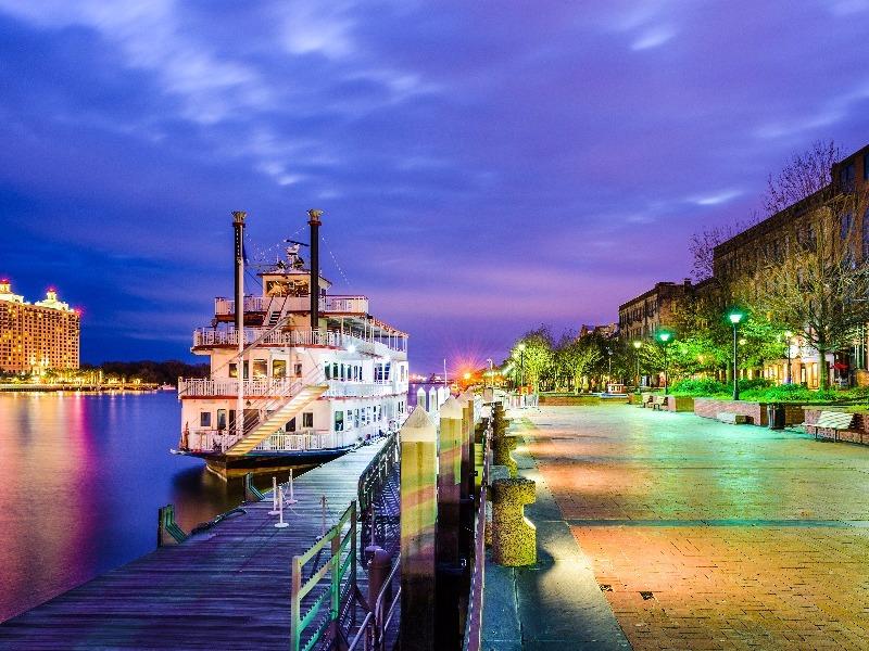 Savannah, Georgia riverboat