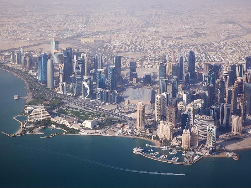 Aerial view Qatar