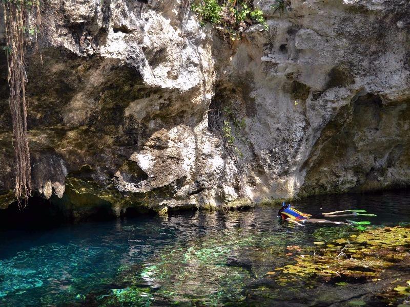 Snorkeling in Tulum cenote