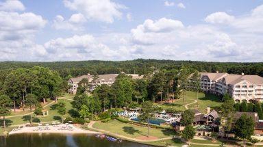 An aerial view of The Ritz-Carlton Reynolds Lake Oconee