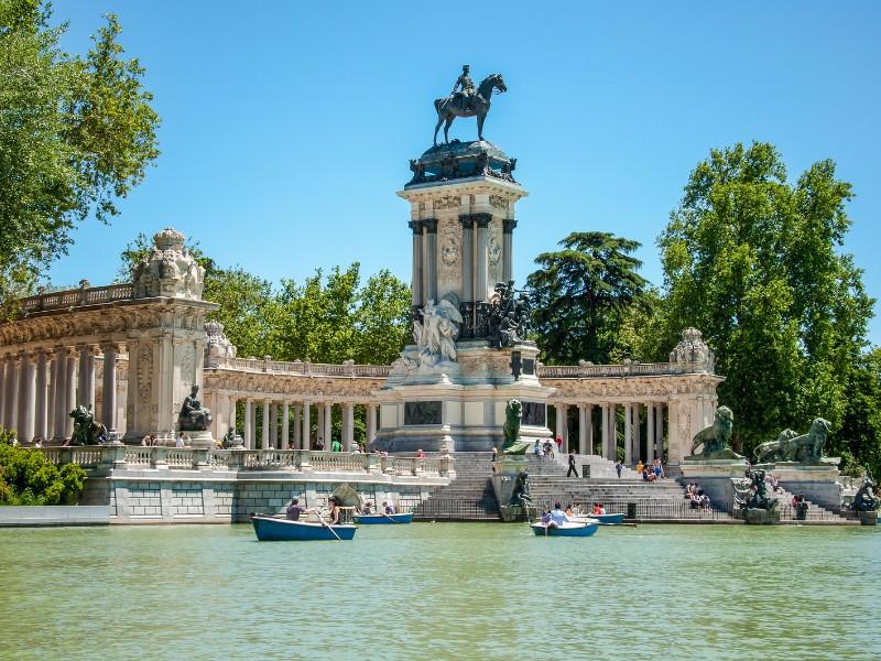 El Retiro Park in Madrid, Spain