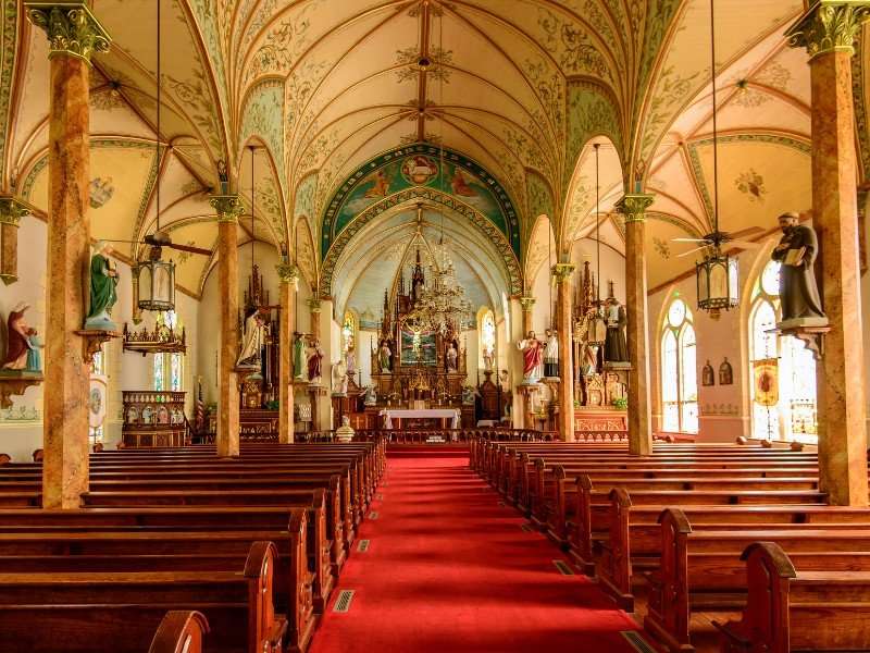 Take A Peek Inside The Historic Painted Churches Of Texas