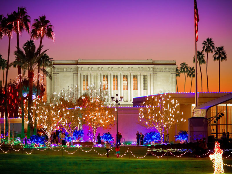 mesa arizona mesa arizona temple christmas lights