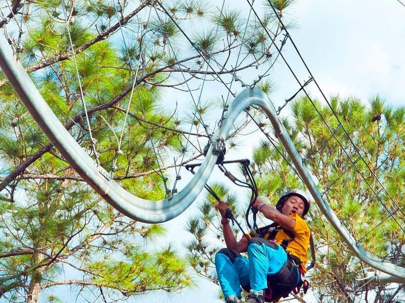 florida zip line roller coaster at forever florida with photos