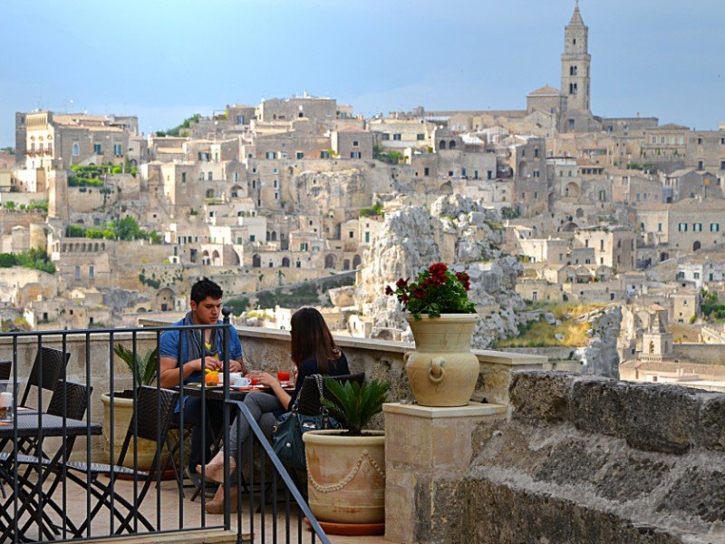 Dining At Ii Belvedere Matera Italy