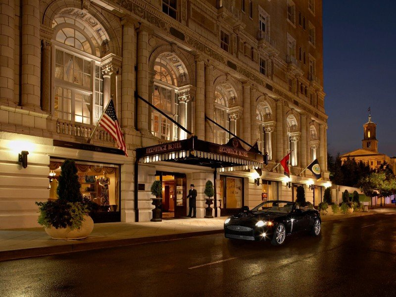 The Hermitage Hotel Entrance To Nashville Tn