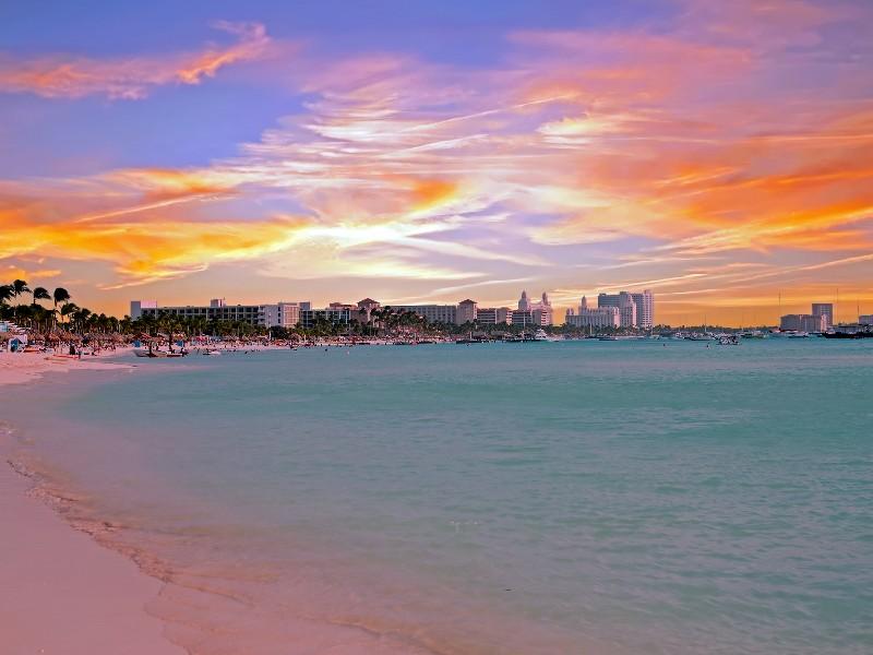 Experience Palm Beach Sunset On Aruba
