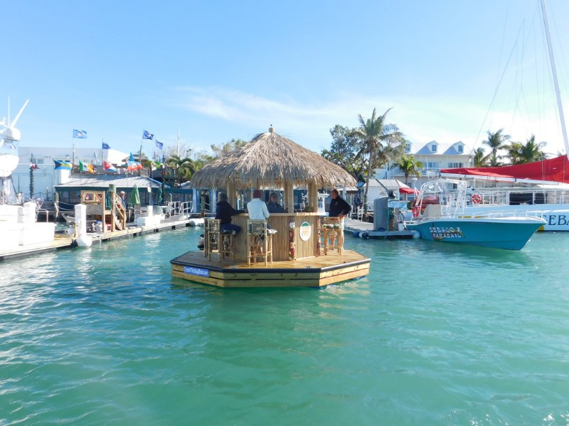 Sail Away In This Floating Tiki Bar In Key West