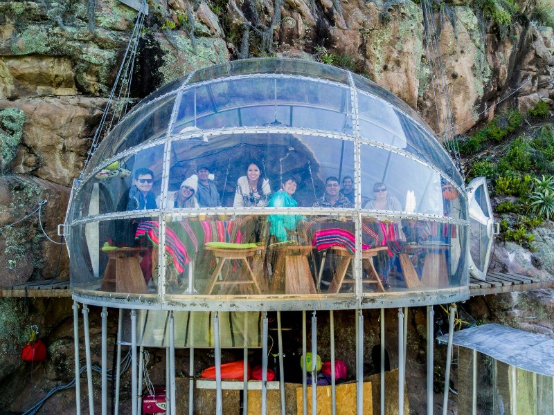 Skylodge Adventure Suites Glass Pod On The Side Of A