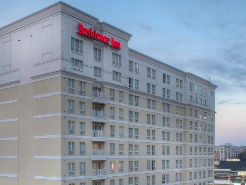 Residence Inn Charlotte Uptown The Is Located Right Across Street From Bank Of America Stadium