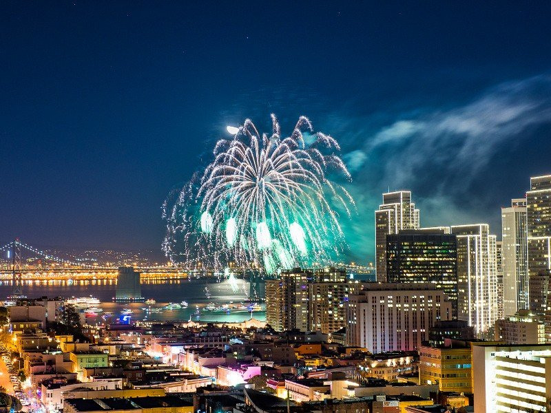 Celebration for New Year's in San Francisco