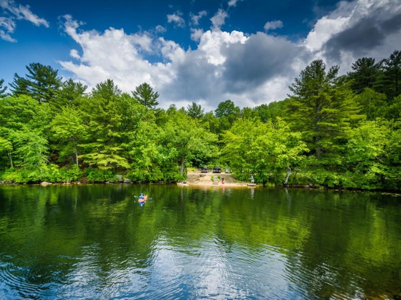 Massabesic Lake In New Hampshire Stock Photo - Image of