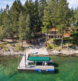 dock on the emerald waters of Flathead Lake