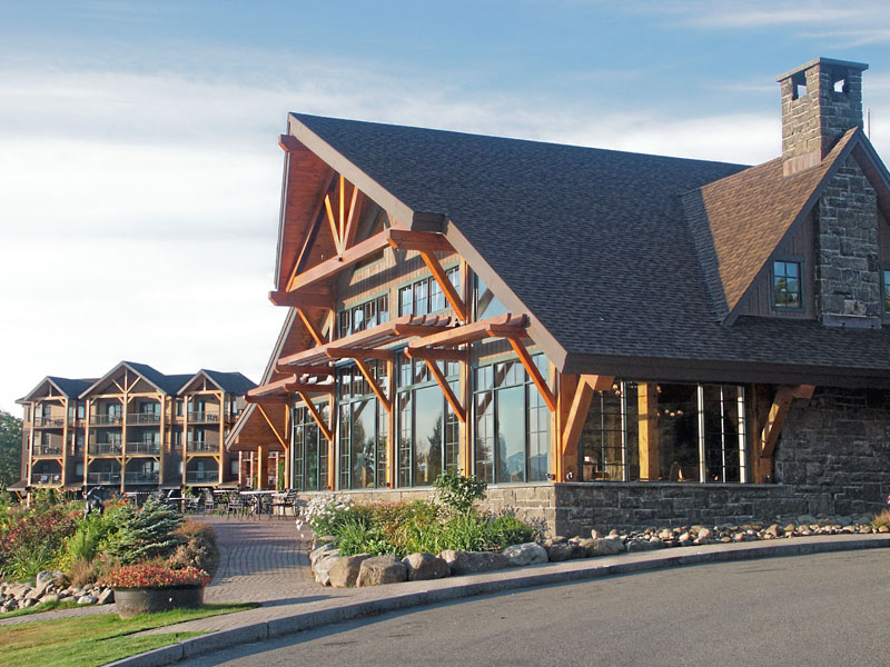 Adirondack Wing & Great Room Lobby overlooking the lake