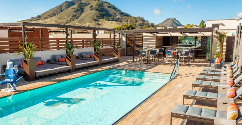 Rooftop pool at Hotel Cerro