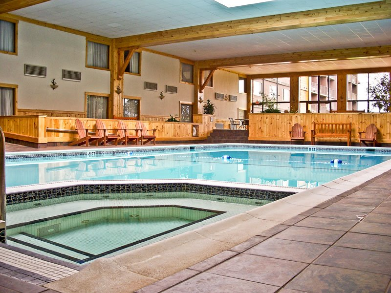 A view of the Indoor Swimming Pool and Whirlpool at the Crowne Plaza Lake Placid resort