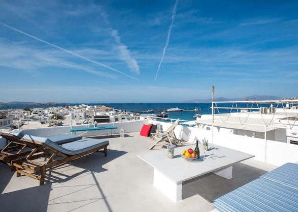 Mykonos Town Panorama Apartment with Private Terrace