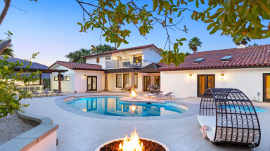pool and fire pit at Paloma Estate