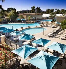 outdoor pools at Scottsdale Plaza Resort