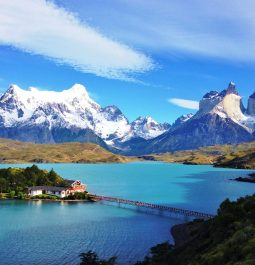 Stunning mountains and turquoise water Torres del Paine