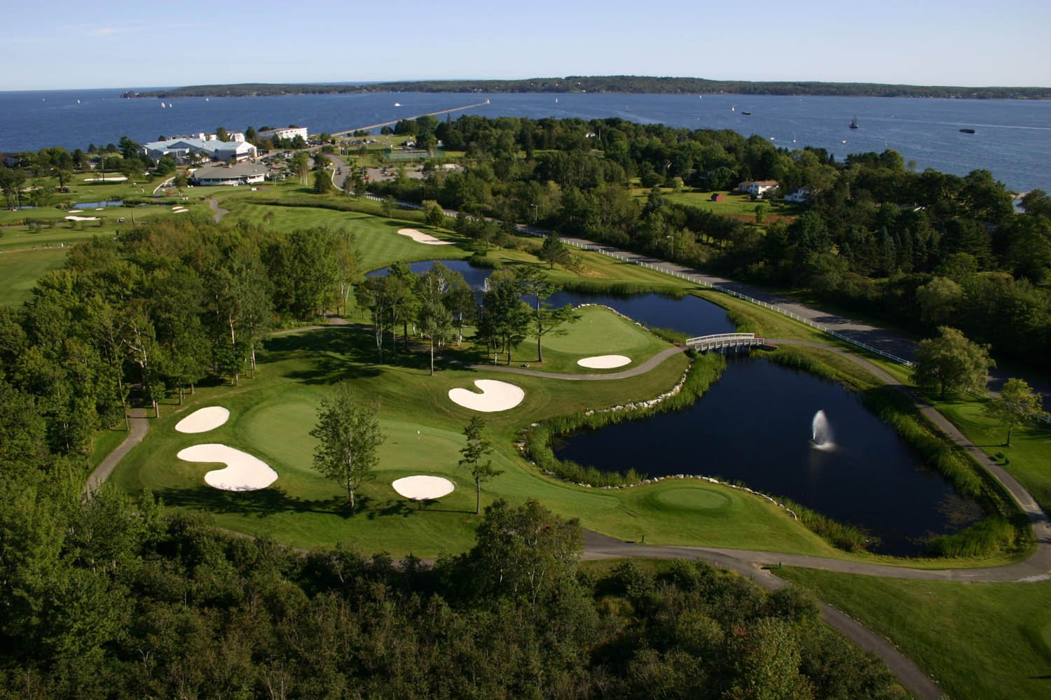 Aerial view of golf course at the resort