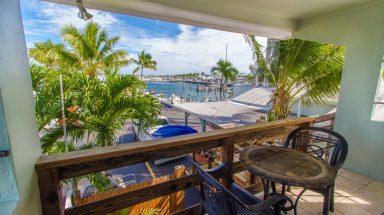 ocean view from the balcony at Harborside Motel and Marina