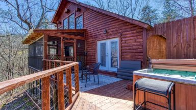 exterior of cabin in tennessee