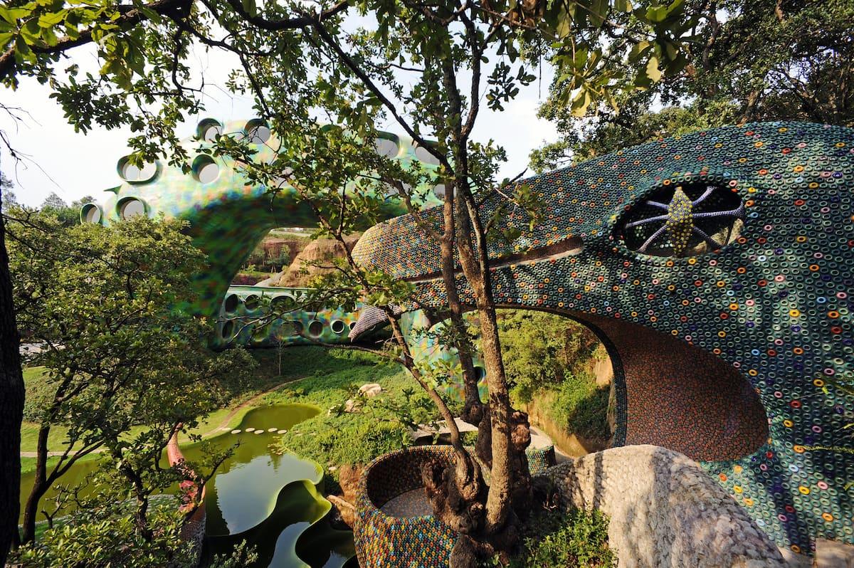 lush grounds Quetzalcoatl's Nest