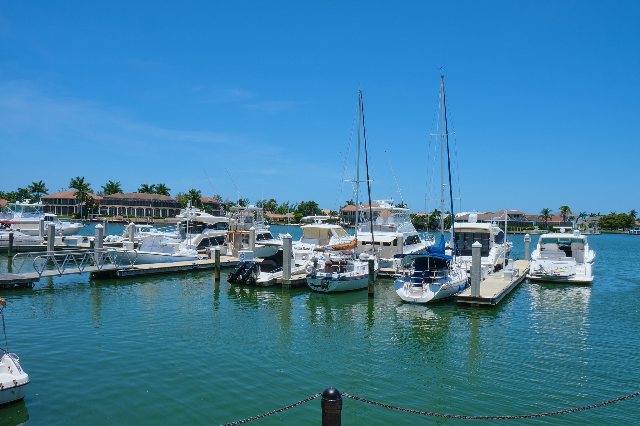 Boats near the resort