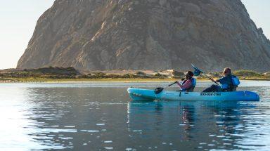 Kayaking near Morro Rock, Morro Bay